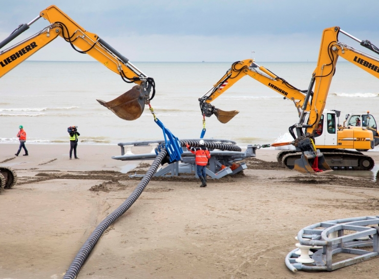 OOSTENDE (BE) | RENTEL NV announces the landfall of its export cable in Zeebruges